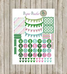 March is filled with not one but two fun holidays- Easter and St. Patricks Day! Celebrate them both with this fun Monthly Theme Planner Kit.