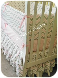 Custom Baby Crib Bedding SetCrib Bumper by LittleBurpsnGiggles. Too many choices!!!