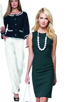 Robe en maille piquée de coton blanc, noir Elégance de la Boutique Elegance Paris prix 229,00 € TTC