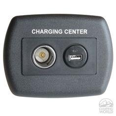 USB 12 Volt Metal Charger - Black