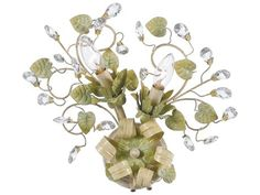 Crystorama Josie Champagne Green Tea Two-Light Wall Sconce
