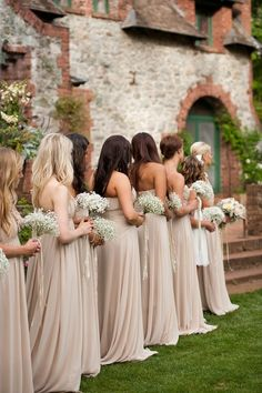 Bridesmaid dresses. This is exactly what I want! Same flowers and everything.
