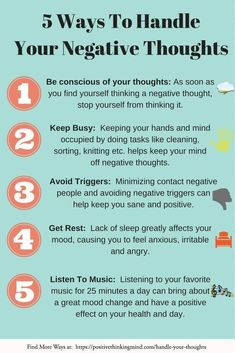 Handling Your Negative Thoughts, The Positive Way