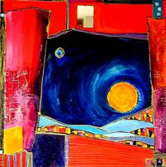 Artwork >> Catherine Suchocka >> red landscape
