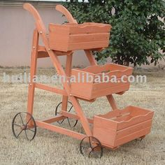 Wooden Flower Wheelbarrow/ Planter - Buy Cart Wheel Planter,decorative Garden…