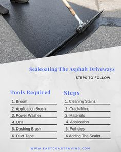 Steps To Follow for Sealcoating The Asphalt Driveways
