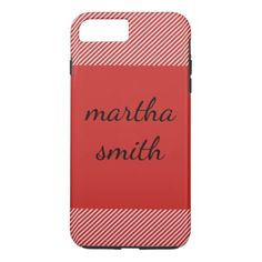 stripes / red iPhone 8 plus/7 plus case - red gifts color style cyo diy personalize unique
