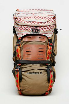 Chums Brown Sinawava 45 Backpack. Man. This one is fun. No reviews though, so risky to get for hiking. A hiking pack is an investment