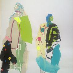 Textiles Sketchbook, Fashion Design Sketchbook, Fashion Illustration Sketches, Art Sketchbook, Fashion Sketches, Illustration Art, Sketchbook Inspiration, Fashion Books, Gouache