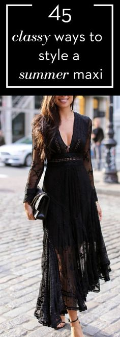 45 Classy ways to style a summer maxi