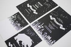 Under The Stars Garden Wedding Invitation Printable Set of 4. $85.00, via Etsy.