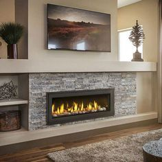 Best Rustic Farmhouse Fireplace Ideas For Your Living Room Powerful decoration of the living room is determined by its own size and shape. Even though decorating that your living . Read Best Rustic Farmhouse Fireplace Ideas For Your Living Room Vented Gas Fireplace, Fireplace Tv Wall, Linear Fireplace, Basement Fireplace, Farmhouse Fireplace, Fireplace Remodel, Living Room With Fireplace, Rustic Farmhouse, Living Room Decor