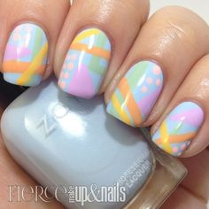 cubist makeup | Abstract Easter Mani Collab Video - Fierce Makeup & Nails