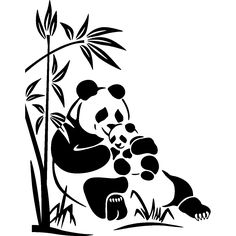 Animals wall decals - Sweet bears-panda Wall decal | Ambiance-live.com
