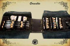 Sac Alchimiste bandouillère en cuir pour ceinture pour GN, grandeur nature et cosplay