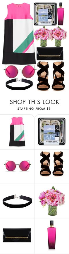 """""""Untitled #900"""" by estefanifashion ❤ liked on Polyvore featuring Dsquared2, Matthew Williamson, Gianvito Rossi, Miss Selfridge, Jimmy Choo and Victoria's Secret"""