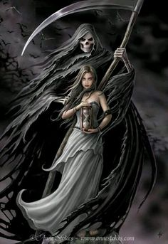 Anne Stokes Grim Reaper fantasy gothic art Death & the Maiden