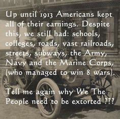 And they came to this country with little to nothing and made something of themselves without the handouts, Imagine that!