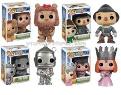 Wizard of Oz Set of 4 Tinman Scarecrow Lion Glinda NIB Vinyl Funko Pop new 2013
