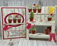 Garden Workbench & Card - created for Craft Project Central - by Sandy Mott
