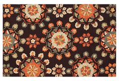 Would hide so much in a play room!   Lalage Rug, Cocoa/Orange/Multi on OneKingsLane.com