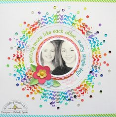 #papercraft #scrapbook #layout. Like Each Other *doodlebug* - Scrapbook.com. Love this. Super cute.