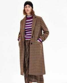 Image 2 of CHECKED COAT from Zara