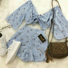 Perfect duo: Summer sets we want to wear now - Perfect Duo: Summer Outfits We Want to Wear Now – Moda it - Teenage Outfits, Teen Fashion Outfits, Cute Fashion, Outfits For Teens, Girl Outfits, Cute Casual Outfits, Cute Summer Outfits, Stylish Outfits, Summer Wear