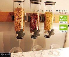 NEW Zevro WM300 Indispensable SmartSpace Wall Mount Triple Dry Food Dispenser !! #ZevrO