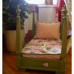 "Love this!  Table upside down as toddler bed- cute idea for a ""princess"" bed!"