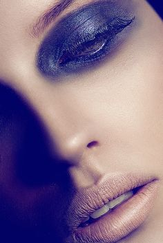 smoky eye make-up and nude lips - Ugné @ Storm Models by Andres de Lara's photo blog, via Flickr