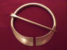 Penannular Brooch To Mount With Gems Or Stamp With Image.