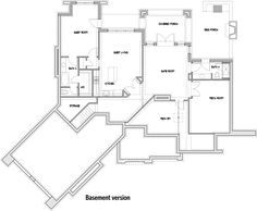 Architectural Designs 16801WG basement layout