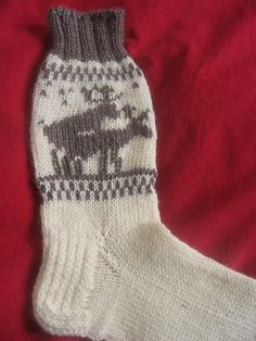 Sexy Times Reindeer socks.  I don't know if I would knit these for myself, but they're pretty hilarious.  They do make a pretty tempting Christmas gift idea for a few coy jokers I know.