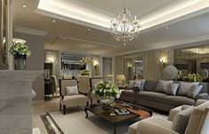 Picture of Living Room Design Ideas : Modern Living Rooms from the Far East, An Opulent Classy Living Room Glamour Living Room, Classy Living Room, Beautiful Living Rooms, Living Room Modern, Interior Design Living Room, Living Room Designs, Living Room Decor, Coastal Living, Design Room