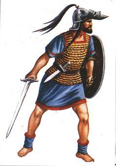 Celtíberos, guerrero, s. I a.C.