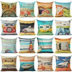 New Arrive Retro Bus Cushion Cover Decorative Sofa Throw Pillow Car Chair Home Decor Pillow Case almofadas