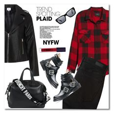 """NYFW 2018 R"" by vkmd ❤ liked on Polyvore featuring Rails, Abercrombie & Fitch, Zizzi, Diesel, Givenchy, Muse, Lipstick Queen, contestentry and NYFWPlaid"