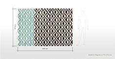 Monographic vloerkleed van 170 x 240 cm in patinablauw | made.com