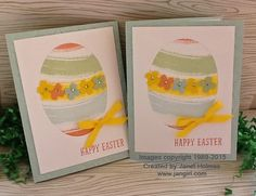 Jan Girl: Stampin' Up Work of Art Easter card and Quick and simple Easter Treats