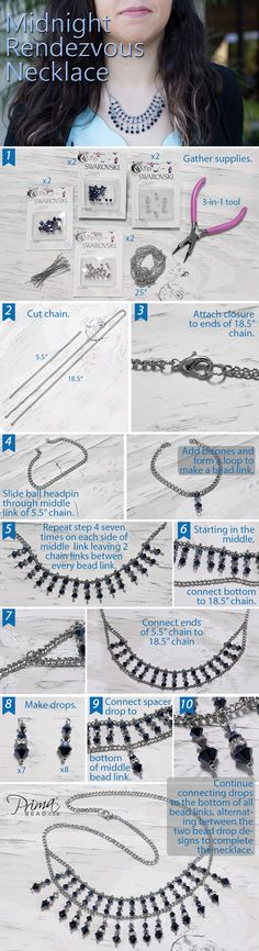 #DIY #craft #jewelry #jewelrymaking #swarovski #crystals #beads #necklace #fashion #accessories