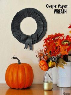 Make a Crepe Paper Halloween Wreath
