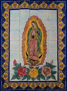 Virgen de Guadalupe Tile Mural $199