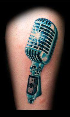 Microphone Tattoo Artist Tattoos Piacenza Via Cittadella 34....I WANTTTT!!!