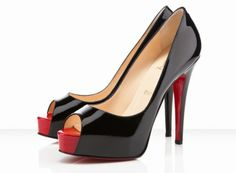 f2982b957 Classic black pumps with a twist! Christian Louboutin Hyper Prive Black Red  No Me