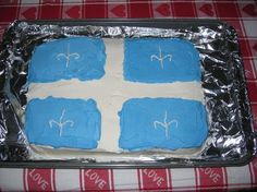 Quebec Flag Quebec, Flags, Articles, Cakes, Baking, My Love, Tips, Recipes, Cake Decorations