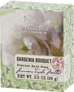Gardenia Bouquet Scented Bath Soap 3.5 oz