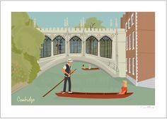 Cambridge A4 Giclée Non-Editioned Fine Art Print Punting