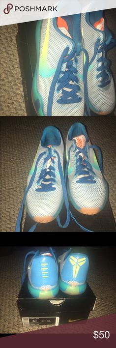 Nike Kobe 10 High Dive White Blue Lagoon Orange Key Lime