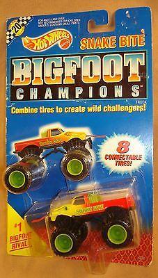 HOT WHEELS 1991 BIGFOOT MONSTER TRUCK SNAKE BITE MIB